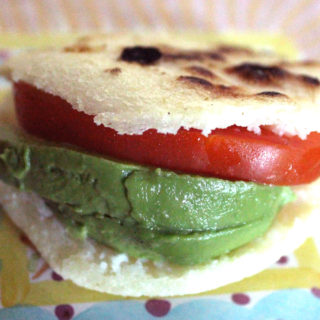 Avocado and Tomato Arepa
